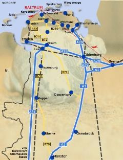 Der Weg zur Ferienwohnung Baltrum