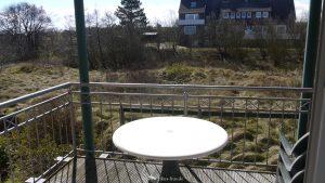 Balkon zur Südseite unserer Ferienwohnung auf Baltrum